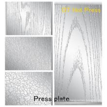 Spécifications Plaque de pressage pour la texture sur les stratifiés / Plaque de pressage pour la plaque de presse en mélamine MDF pour HPL