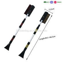 set of two high quality telescopic handle snow brush with ice scraper and glass cleaner and comfortable EVA handle