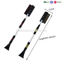 conjunto de dois alta qualidade telescópica lidar com escova de neve com raspador de gelo e limpador de vidro e alça de EVA confortável