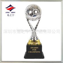 Plating trofeo de plata de plata trofeo de fútbol pequeño