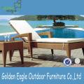 Cadeira de praia barato Rattan Patio com tubo de alumínio