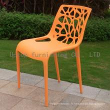 Chaise de résine en plastique empilable pour mobilier de restaurant moderne (SP-UC304)