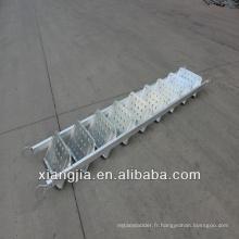 escalier de structure en acier de haute qualité de construction