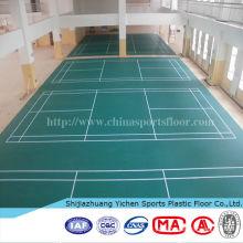 tapete de piso de plástico de esportes tapete de pvc quadra de badminton