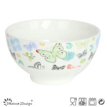 Tazón barato de cerámica de la porcelana Calcomanía