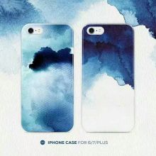 IMD PC back TPU edge phone case blue