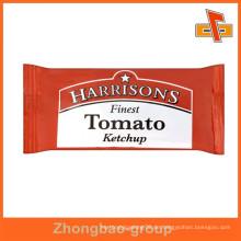 Feuchtigkeitsbeständiger aseptischer Kunststoff 3 Seitendichtung Lebensmittelverpackungsbeutel mit Druck für Ketchup, Sauce, Öl, Aroma, Wasser