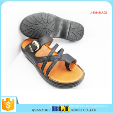 Bestting Buckle Shape Black Colour Slipper
