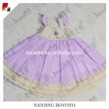Hot sale lavender embroidered full lining toddler dress