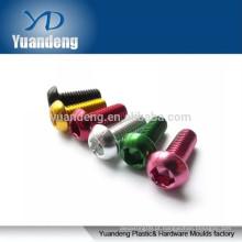 Parafusos de alumínio anodizado, parafusos Hexagon Socket cabeça da cabeça de botão ISO7380