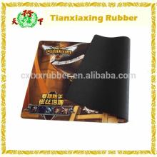 Tapete de rato personalizado da esteira de jogo de borracha de espuma natural