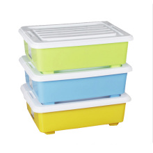 Rectangle Plastic Storage Box Container with Wheels