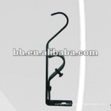 iron extendable wall curtain bracket for double rod