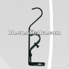 Suporte de cortina de parede extensível de ferro para haste dupla