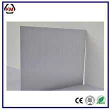 Brushed aluminum laminate sheet metal