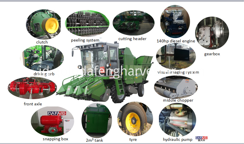 3 rows corn harvester details