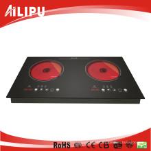 Cookware de 2 queimadores, produto quente para o aparelho electrodoméstico, Kitchenware, calefator da indução, fogão, Hob cerâmico (SM-dic09A-2)