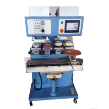 PLC 4-color open ink well pad printing machine