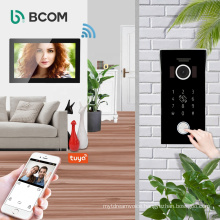 Bcom smart life multi user wireless night vision tuya smart doorbell monitors 2021 poe wired wifi door bell kit