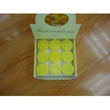 9 velas votivas de la serie perfumada de frutas de limón