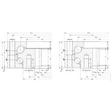 Rothe Erde Engranaje interno Rodamiento de la bola de doble fila (012.40.3300.000.11.1502)