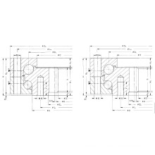 Rothe Erde Internal Gear Double Row Ball Rotating Bearing (012.40.3300.000.11.1502)