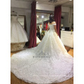 New Design Elegant Alibaba White Ivory muslim Long Sleeve A Line Lace wedding Dresses vestidos de fiesta 2017