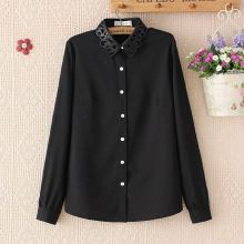 Black Shirt with Carved Collar