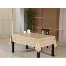 PVC Embossing Tablecloth with Flannel Backing (TJG0135A)