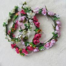 Flower Wreath Hair Accessory,Wire Vine Crown, Woodland Wedding, Rustic Bridal Wreath
