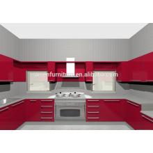 9 ans usine sans plainte directement meuble cuisine rouge pour le marché philippin