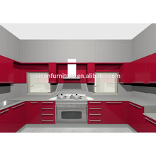 9 years no complaint factory directly red kitchen furniture for Philippines market