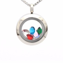 Fashion waterproof sterling silver floating locket pendant jewelry