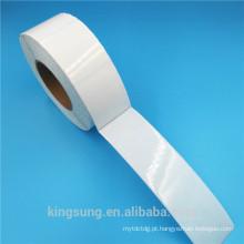 Rótulo de etiqueta imprimível em branco claro de alta qualidade