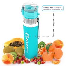 BPA livre de alta qualidade água infusor & ndash 24 oz fruta infundida garrafa de água verde-azulado