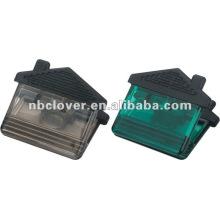 house shape plastic magnetic memo clip