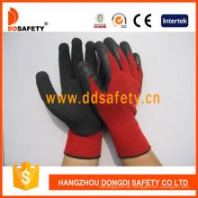 Roter Baumwolllatex-Beschichtungs-Handschuh-Sicherheits-Handschuhe Dkl811