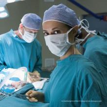 Robe chirurgicale Utiliser un tissu non tissé Spunlace Extrêmement respirant