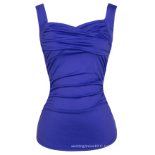 Belle Poque Sexy sans manches Sweetheart Classic Blue 50s Débardeur Pinup BP000341-3
