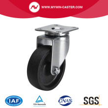 Mini 2,5 Zoll 35Kg Plate Swivel PO Caster