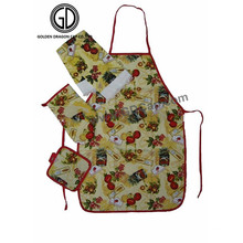Beautiful Customized Printing Polyester Kitchen Artist Apron Set