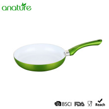 Pressed Induction Base White Ceramic Frypan
