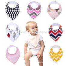 Adorável Infantil Impermeável Droll Menina Babadores com Snaps Vermelho Rosa Branco Amarelo Preto bebê bandana bibs