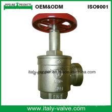 Válvula de la boca de riego del aterrizaje del fuego de cobre amarillo con la manija de aluminio (AV4067)