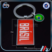 Promotional souvenir keychain making suppliers metal keychain
