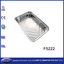 Boîte jetable d'aluminium de nourriture d'utilisation de BBQ