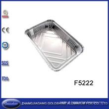 Caixa descartável da folha de alumínio do uso do alimento do BBQ
