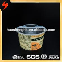Пищевая сертифицированная FDA 7oz / 210 мл 2-секционная пластиковая чашка для соуса