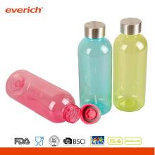 Seguro, garrafas de água plásticas seguras à prova de fugas com imagem DIY no corpo
