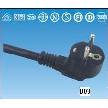Câble d'alimentation PVC câble VDE H05VV-F